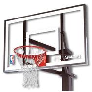 Щит для баскетбола из стекла SPALDING 60 929491 кольцо с сеткой в комплекте, фото 1