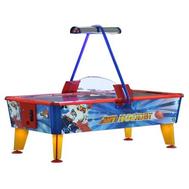 Стол-аэрохоккей для бизнеса - Ice Fire Gold 8 ф красно-синий-золотой, купюроприемник, фото 1