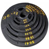 Набор олимпийских дисков 51 мм для тренажеров POWERTEC 255 LBS (115,68 кг), фото 1