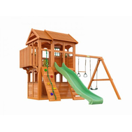 Детский игровой деревянный городок - IGRAGRAD FAST КЛУБНЫЙ ДОМИК 3, горка, канат, трапеция, качели, фото 1