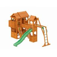 Детская деревянная площадка - IGRAGRAD FAST КЛУБНЫЙ ДОМИК МАКСИ, домик с балконом, качели, горка, лестница, рукоход, фото 1